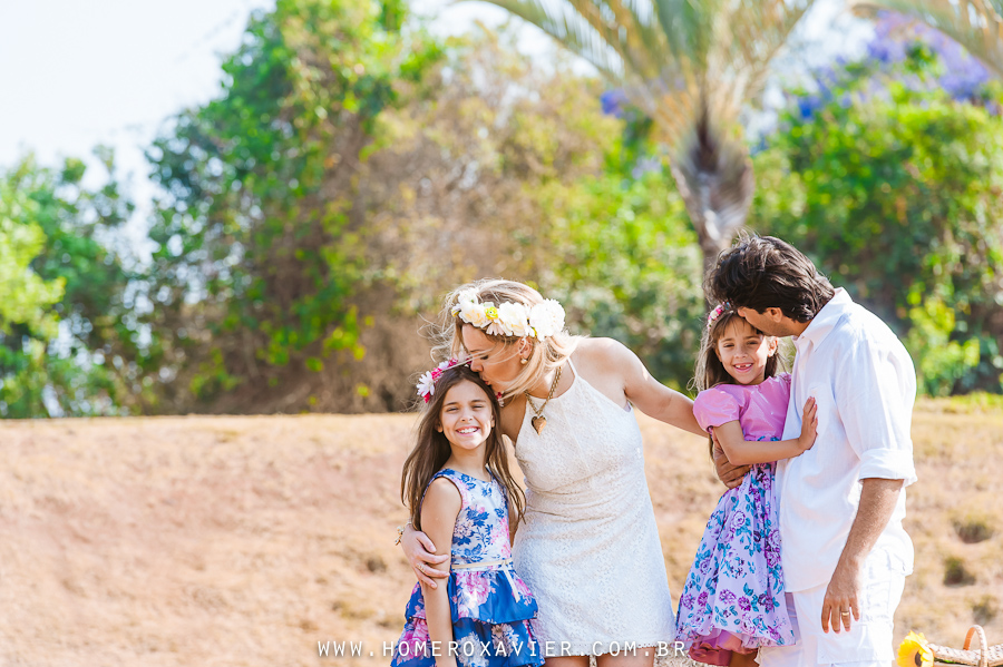 Christiane e família