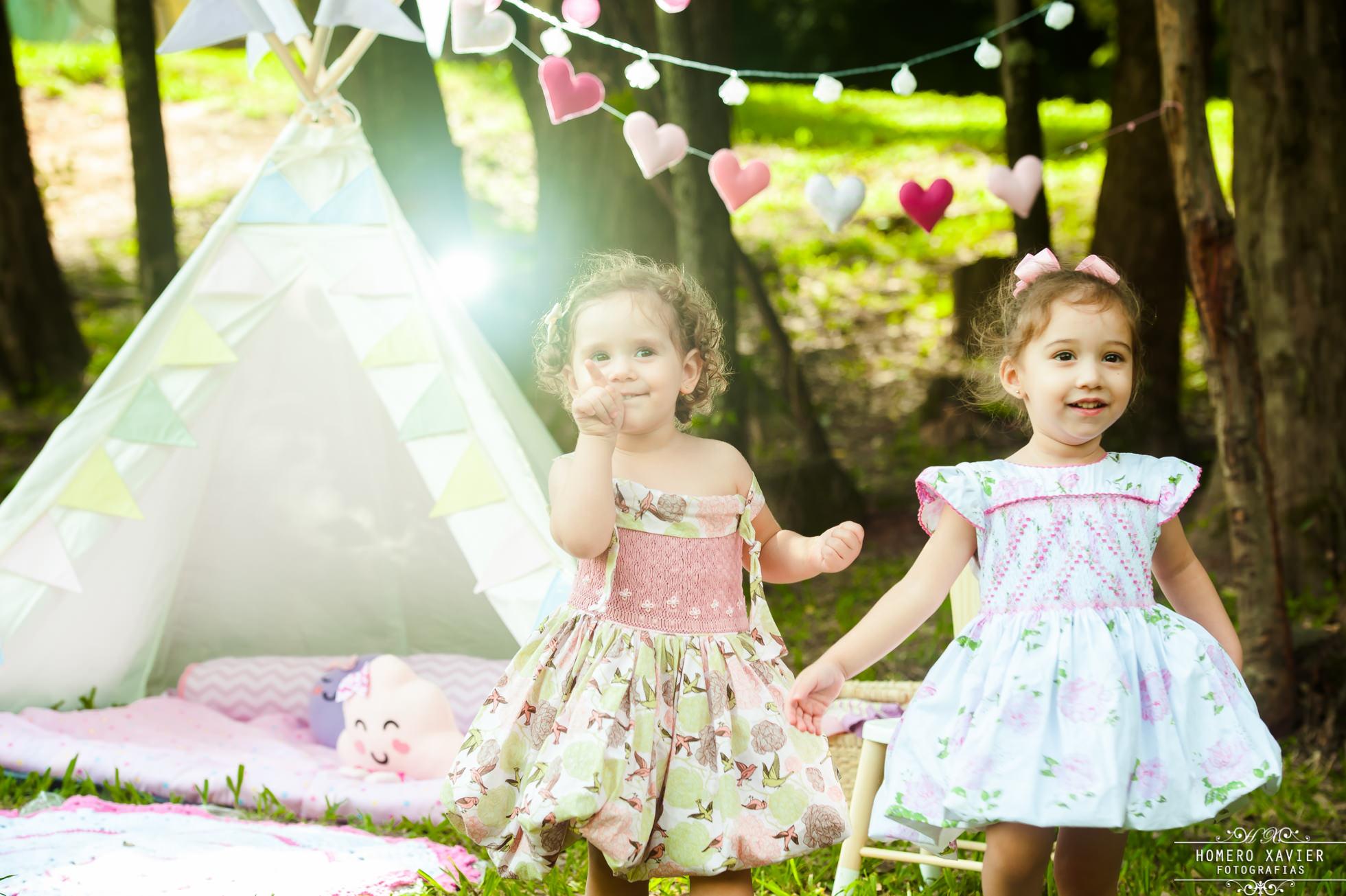 Sessão de fotos ambiente lúdico e encantador para as crianças brincarem