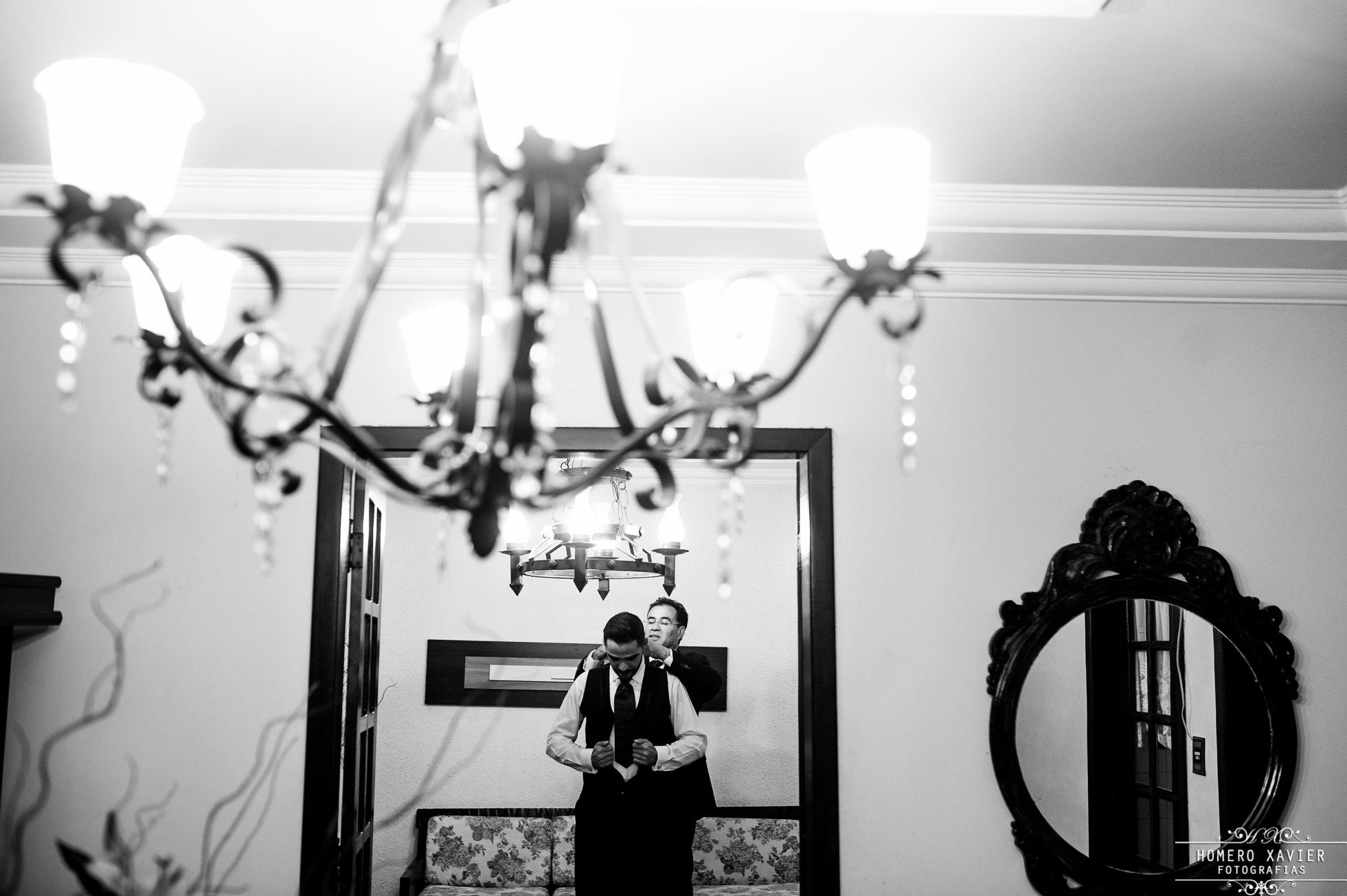 fotografia making of noivo Chácara de Minas em BH