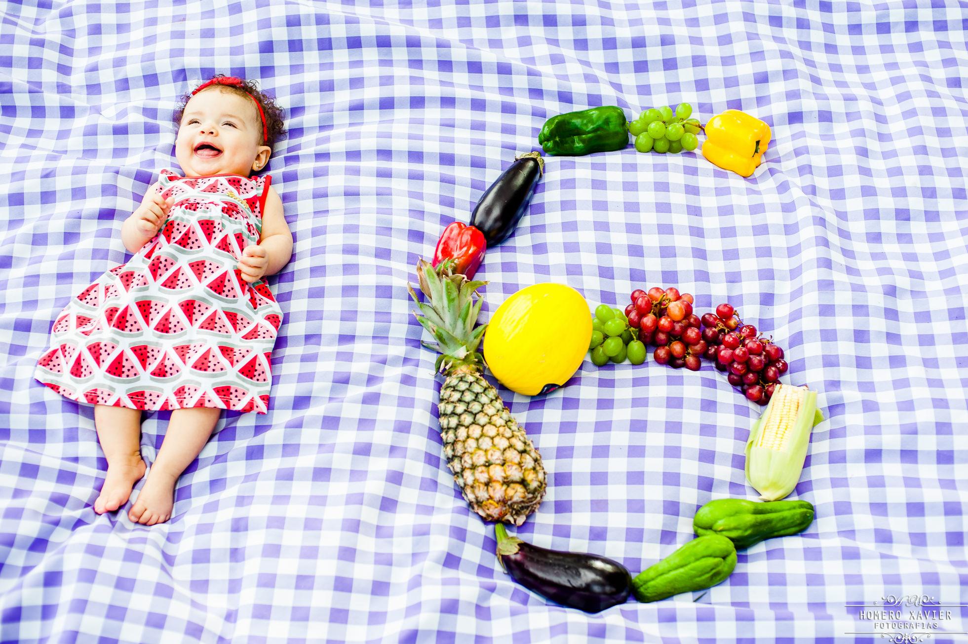 Rebeca 6 meses e família