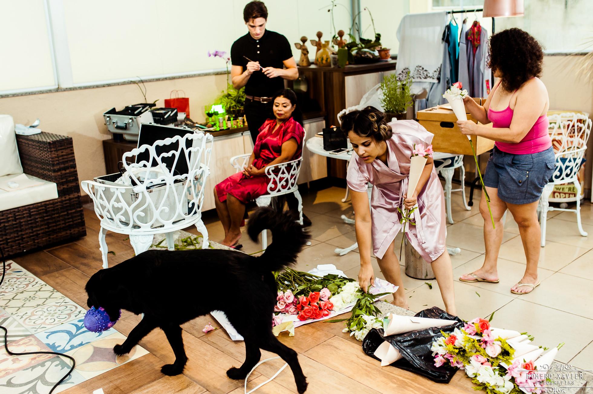 foto making off noiva em casa