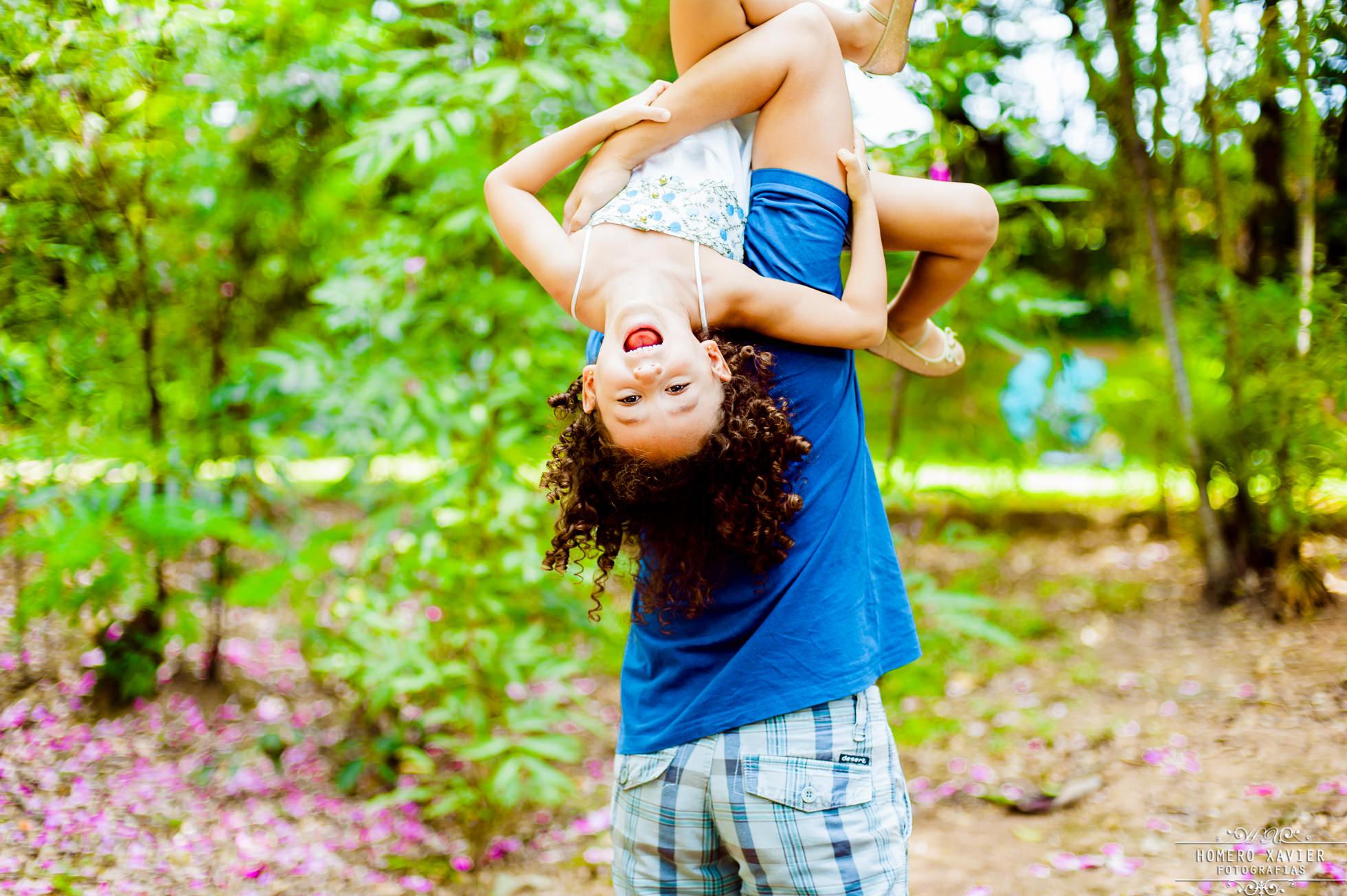 fotografia book infantil externo em parque em BH