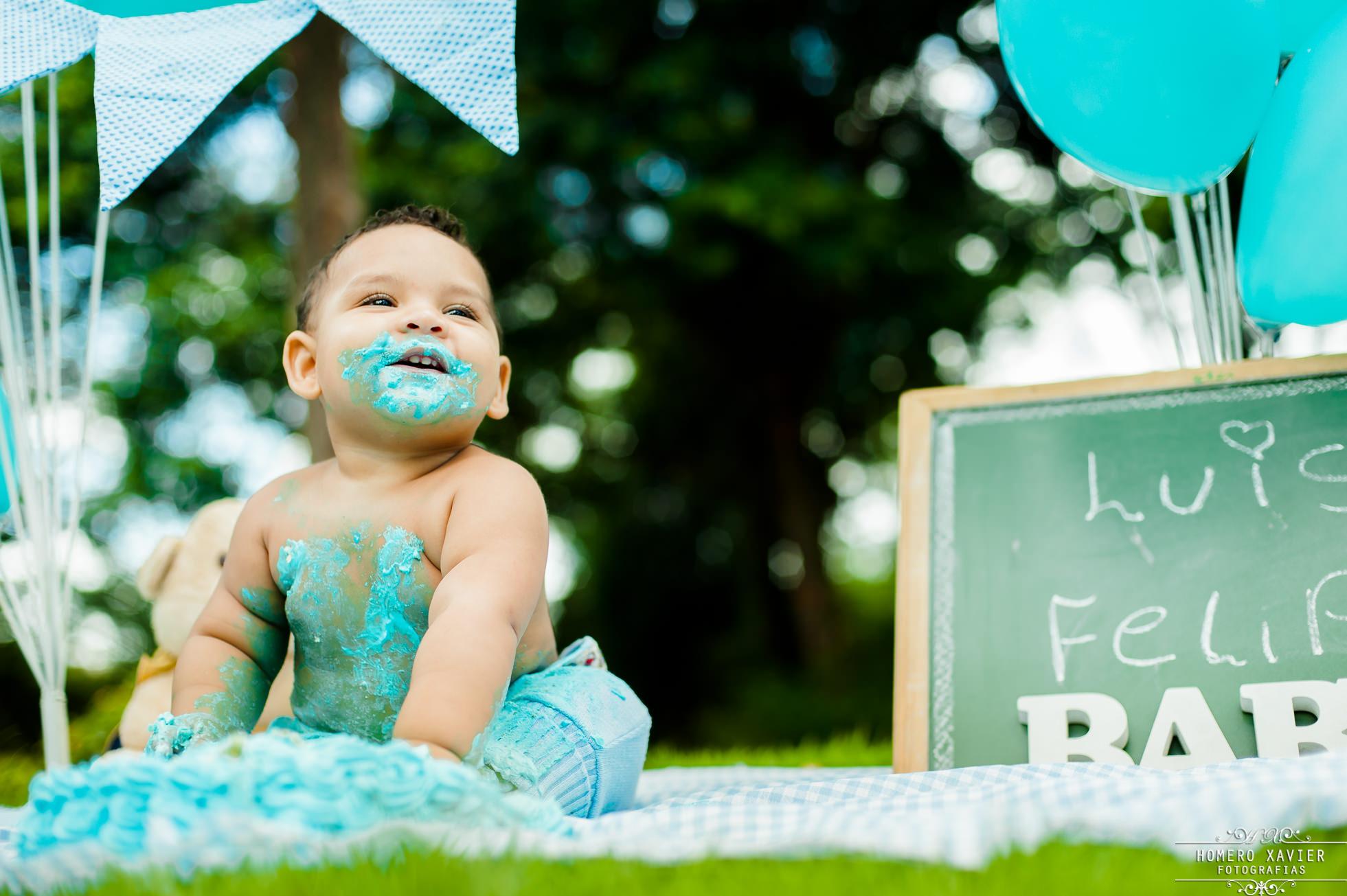fotografia infantil smash the cake em BH