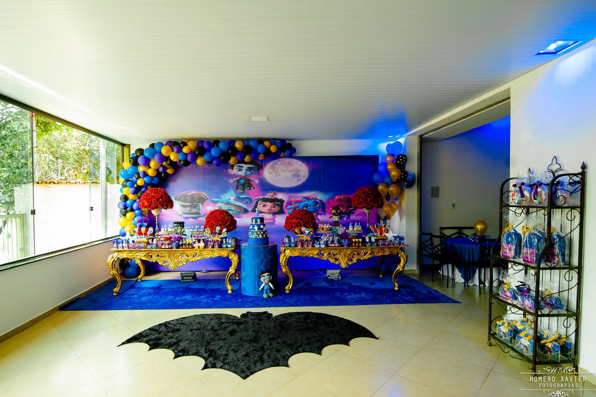 fotografia festa infantil monstrinhos vampiros BH