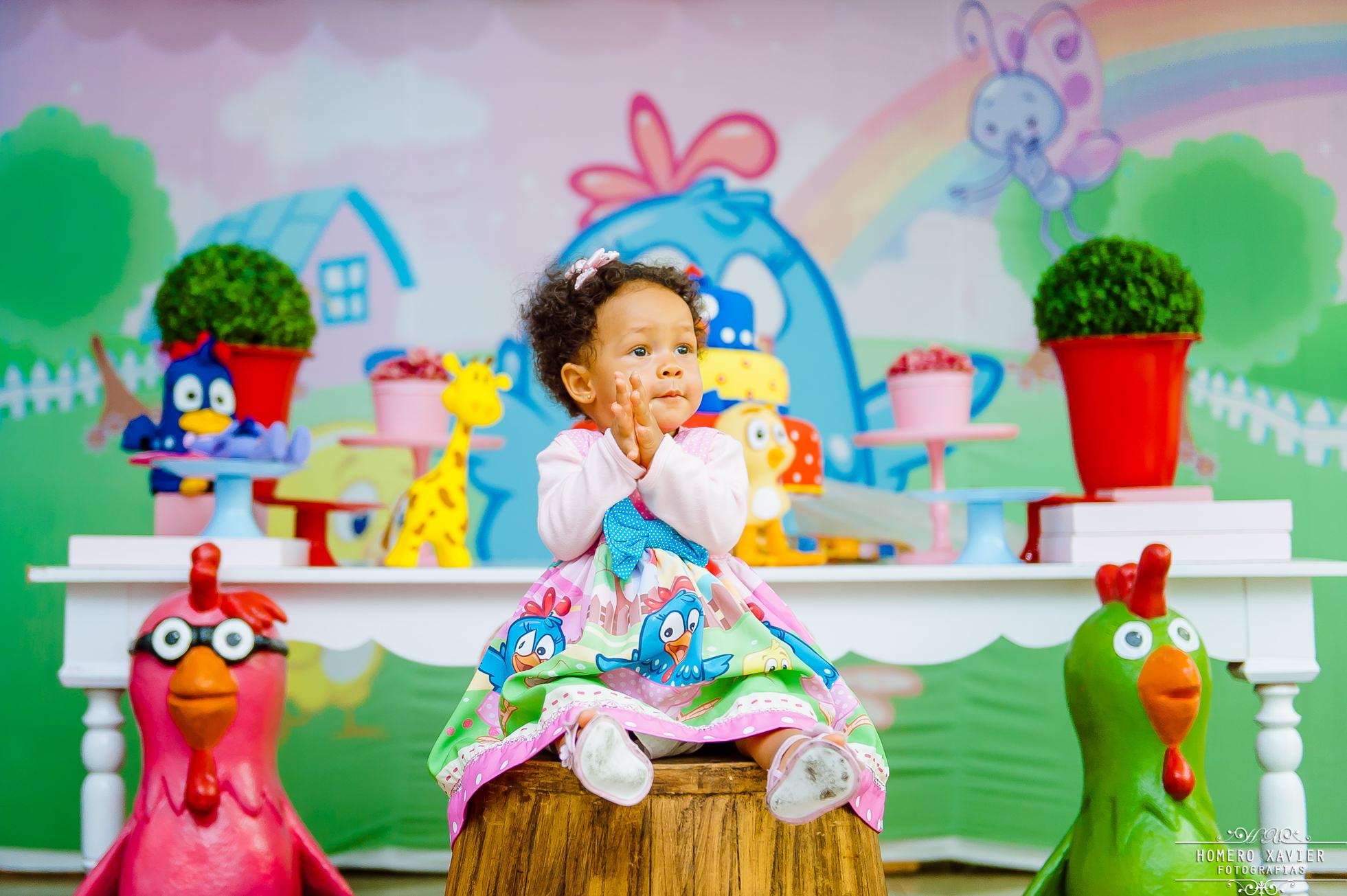 foto festa infantil galinha pintadinha Villa encantada BH