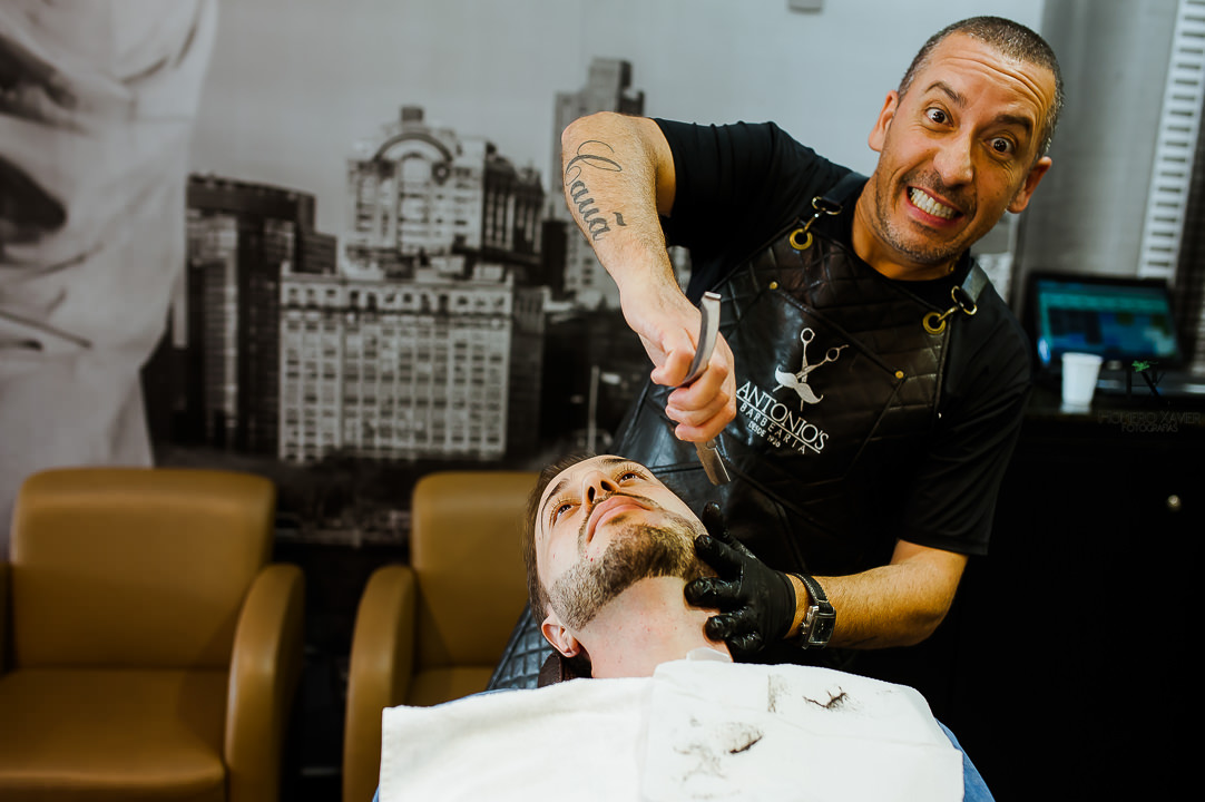 making off noivo Antonio's Barbearia BH